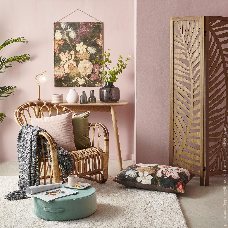 ambiance décoration d'intérieur – fauteuil rotin