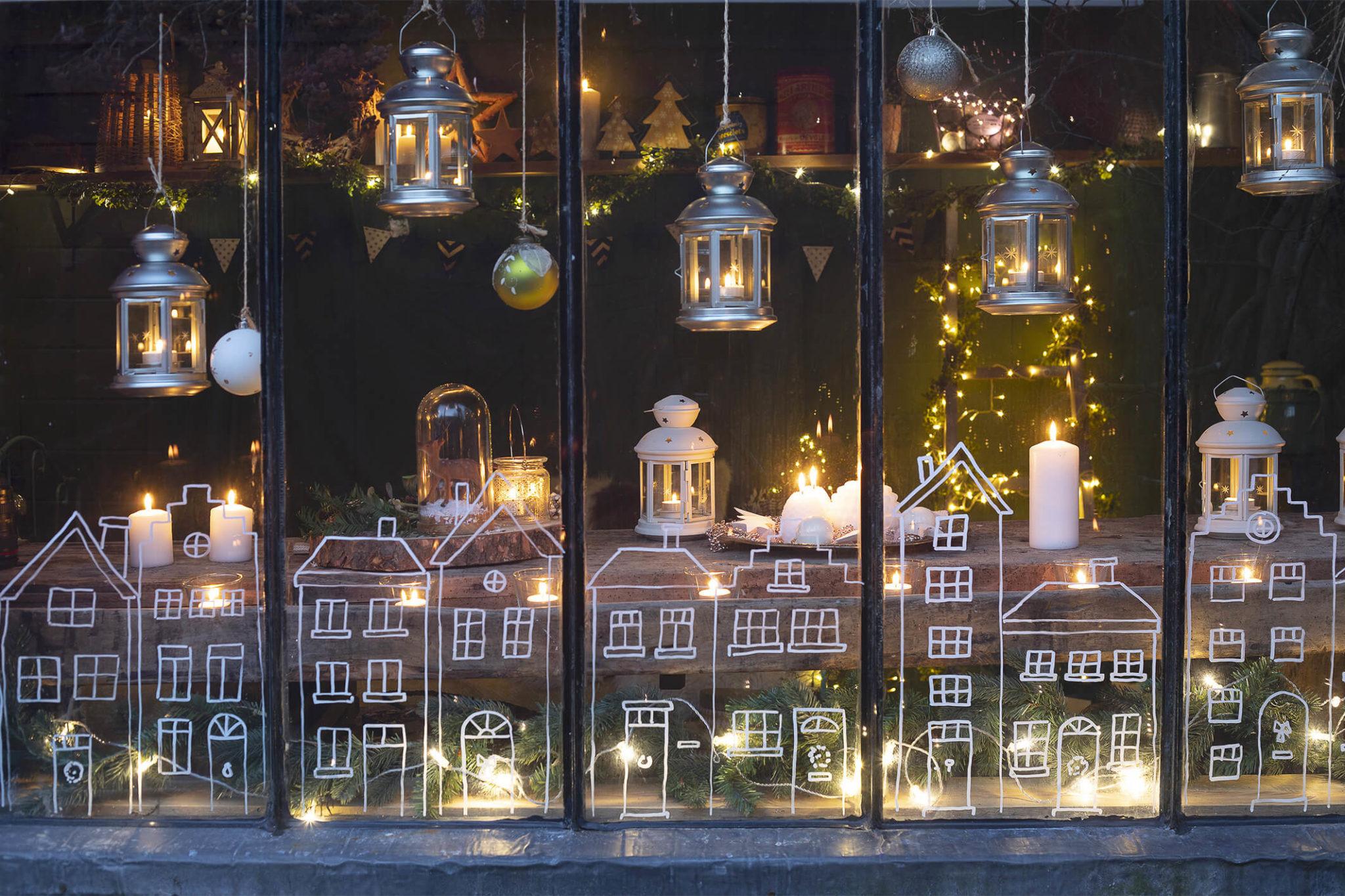 photo d'une fenêtre de Noël 2021